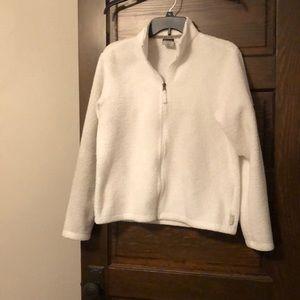 Plush white jacket